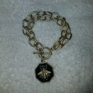Jewelry - Double chain bumble bee bracelet